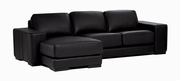 Baron Leather Sectional Sofa | Sherwood Studios Inc